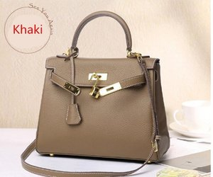 Wholesale 5cm 28cm 32cm Brand Totes K Bag Plain bag Many colors Genuine leather Cowhide Shoulder Bags lady Handbag High Quality With dust bag
