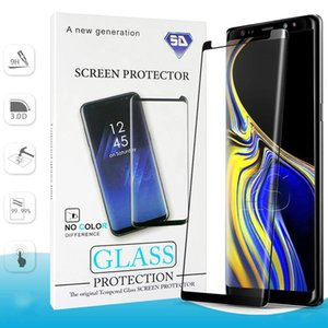 Wholesale screen protector For Samsung Galaxy Note S9 S8 Plus S7 S6 Edge Note9 Tempered Glass D Curve Edge HD Clear Screen Protector