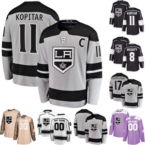 Wholesale Mens Los Angeles Kings Anze Kopitar Dustin Brown Drew Doughty Kyle Clifford Jack Campbell Jonathan Quick Hockey Jerseys