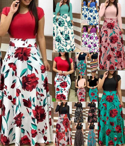 11Colour S-5XL Plus Size Ladies Short Sleeve Long Sleeve Floral Boho Women Party Bodycon Maxi Dress Clothing