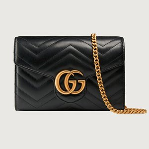 Wholesale 2019 fashion trend new wallet long wallet Quilted Mini Handbag 474575 DRW1T 1000 Black Leather