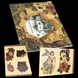 Wholesale 108 Pattern Tattoo Flash Book A4 Size 108 Pages Skeleton Bird Design Sketch Old Chinese Elements For Tattooing Body Art Supply