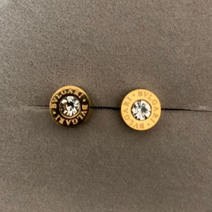 Wholesale Top deluxe Brand Design men mini silver rose gold diamond Stud Earring Jewelry colors earrings for Women men party summer fashion hot sale