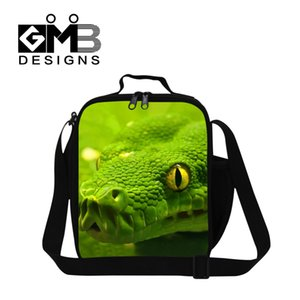 Wholesale Personalized Insulated lunch bag for kids school Snake D Pattern Lunch Container for women office mens stylish work meal bag