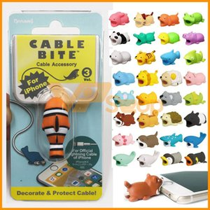 Wholesale Cute Animal Cable Bite Charger Cable Protector Savor Cover Date Line for iPhone Lightings Design Charging Cord Protection Phone Accessories