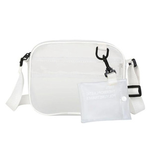Wholesale Summer In Pack Jelly Shoulder Bag Fresh White Transparent Messenger Bag Handbag
