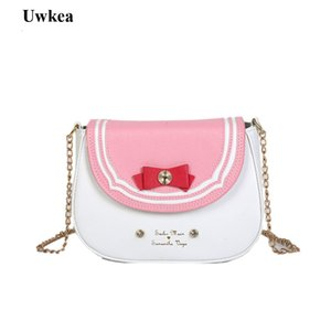 Wholesale 2018 New Hot Cartoon Sailor Moon Cute Japanese Style Women Lady Shoulder Bags Appliques Six Colors Flap Crossbody Bags
