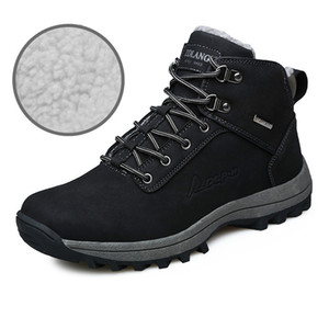 Wholesale Outdoor Large Size Snow Boots Warm and Velvet Cotton Shoes Mens Sneakers Non slip Snow Boots