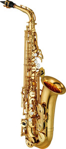 Wholesale gold sax resale online - YAS EX Alto Saxophone electrophoresis gold professional sax alto high quality EX playing instrument