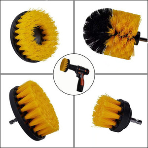 Wholesale Electric Drill Brush Kit Plastic Round Cleaning Brush For Carpet Glass Car Tires Nylon Brushes Power Scrubber Drill