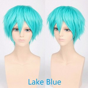 Wholesale Anti alice boy Cosplay Anime Carnival party Wig heat resistant Lake Blue gt gt gt gt gt gt gt gt New High Quality Fashion Picture wig