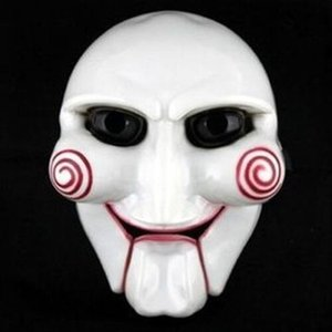 Wholesale saw puppet resale online - Funny Masquerade Mask Halloween Party Mask Interesting Cosplay Billy Jigsaw Saw Puppet Masquerade Costume Prop Creative DIY