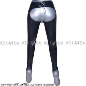 Black Sexy Spanking Latex Leggings Fetish Bondage Rubber Pants Jeans Trousers Bottoms Plus Size Hot Sales 0011 on Sale