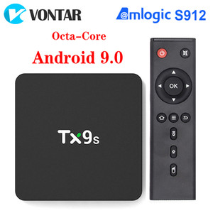 TX9S Android 9.0 Smart TV Box Amlogic S912 Octa Core 2GB 8GB 4K 60fps 2.4G 5G Wifi Smart TV Box