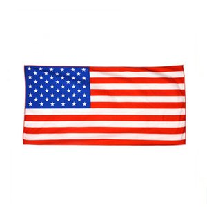 Wholesale American Flag Printed Beach Towel Ultrafine Fiber Quick drying Beach Towel Canada Australia England USA UK Euro style DHL send