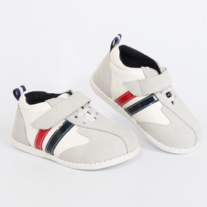 Wholesale Tipsietoes Brand High Quality Genuine Leather Stitching Kids Children Shoes For Boys And Girls 2018 Autumn New Arrival White Y19061906