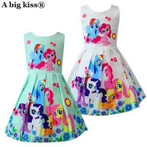 Kids Dresses For Girls My little Poli Children's Dresses Rainbow Dress Cute Pony Foal Princess Party Dress Unicorn Clothes 2019 SH190908 on Sale