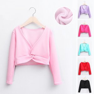 Wholesale SONGYUEXIA Children Dance Costume Girl Ballet Shawl Long Sleeve Autumn Winter Coat Thickening Pure Cotton Practice jacket color