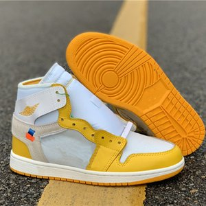 Wholesale Originals Arrival OW X s Basketball Shoes Genuine Leather White Yellow Joint Skateboard Sneakers Mens Joint Designer Chaussures