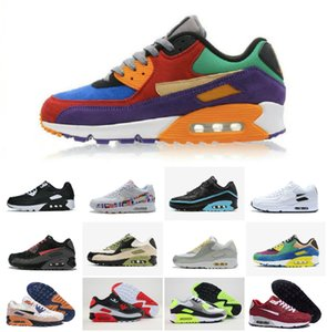 VIOTECH BE TRUE 2020 Men Women Sneaker Classic 90 RunninG QS Shoes Infrared South beach Sports Trainer Air Cushion Surface Breathable Shoe