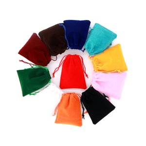 Wholesale 13 cm Packing Drawstring Velvet Pouch Sachet Gift Bag For Jewelry Wedding Things Party Simple Fabric Gift Bag