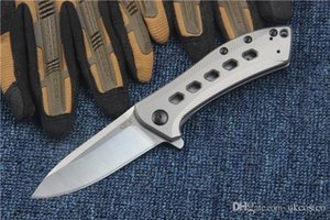 Wholesale High End Zero Tolerance BRZ Flipper ZT0801BRZ Folding Knife M390 Satin Blade ball bearing Titanium handle Collection Gift Knives P813F