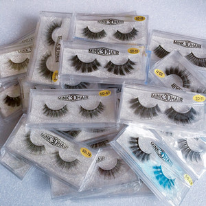 In Stock 3D Mink Eyelashes Eye makeup Mink False lashes Thick Fake Eyelashes 3D Eye Lashes Extension Beauty Tools 20 styles Mink Lashes