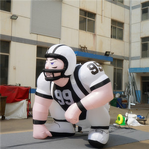 2.5m High inflatable player lawn figure inflatable bubba player for advertiising