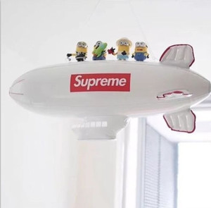 Wholesale Inflation Aircraft Model Sup Beach Airship Toys Kid Air Plane PVC Empty Ball Eco Friendly White Creative