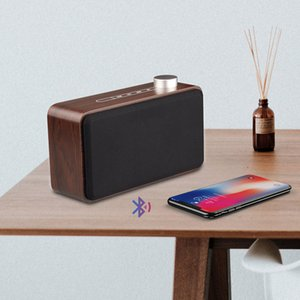 Wholesale 2019 New Wooden Wireless Bluetooth Speaker Good Sound Loudspeakers Surround Wood Wireless Speaker for Phone computer