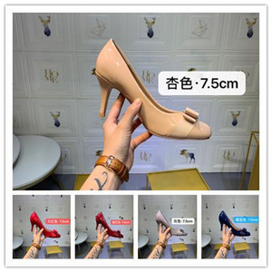 Wholesale With box New Bottoms Luxury Designer High Heels Round Pointed Toe Pumps Womens Wedding Dress Shoes Drop Ship Mid Heeled Shoe