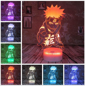 Japan Anime Naruto Figure Cool Adult 7 Colors Smart Change Night Light Boys Bedroom Table Decor Child Kids Teens Babys Christmas Toys Gifts