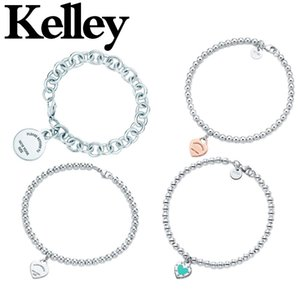 Kelley High Quality Original 925 Sterling Silver Heart Bracelet for Women Fashion Temperament Authentic Jewelry Couple Gift