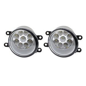 Wholesale for DAIHATSU matter mpv-36 M4 2006-2011 2pcs Car Styling Round Front Bumper LED Fog Lights High Brightness DRL Day Driving Bulb Fog Lamps