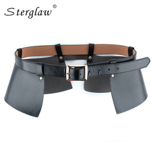 Sexy leather skirt punk catwalk models wild temperament belt Leisure bound decoration split thin leather wide belt girdle A015