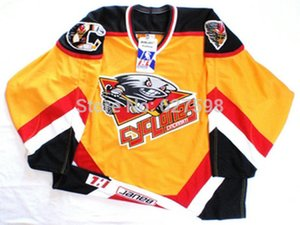 Wholesale Factory Outlet top quality customized hockey jerseys cincinnati cyclones custom made your name number mix order sewn logos