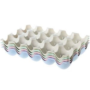 Fridge Egg Storage Box 15-Grid Plastic Egg Tray Holder Organizer Box Egg Container Dispenser on Sale