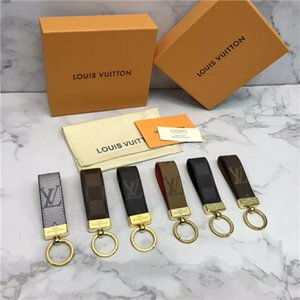 Wholesale New key ring accessories design key ring men and women metal brand design car key ring gift box packaging