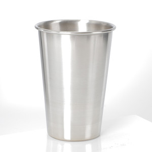 Wholesale beer glasses free shipping for sale - Group buy 16oz Stainless Steel Beer Glass Outdoor Portable Metal Cup ml Small Wine Tumbler Hotel Drinking Utensils
