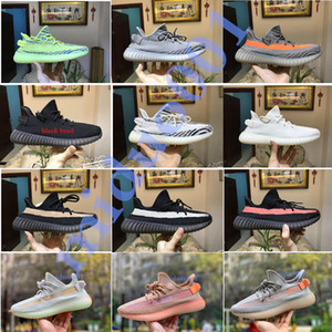 Wholesale 2019 High Quality V2 Women Shoes Sesame Static Clay Men Running Shoes Cream White Men Sports Designer Sneakers With Box