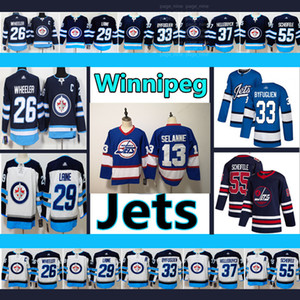 Men's Winnipeg Jets Jersey #26 Blake Wheeler #29 Patrik Laine #33 Dustin Byfuglien 13 Teemu Selanne #55 Mark Scheifele Hockey Jerseys on Sale