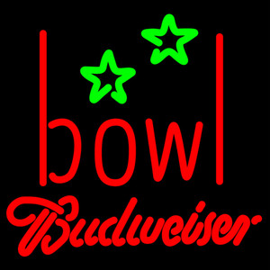 Wholesale Led Neon Sign Acrylic Custom Neon Wall Sign Budweiser Bowling Alley Neon Sign Light Beer Bar Pub Display Handmade Artwork