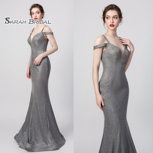 Wholesale sexy modest prom dresses resale online - 100 Real Pictures Grey Sexy Elegant Mermaid Prom Dress Spaghetti Modest Special Occasion Dresses Long Evening Dresses Maxi Gown
