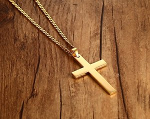 Wholesale Man Pendant necklace Hip Hop Gold silver cross Pendant Jewelry mens necklace stainless steel with iced out chains stainless steel jewelry