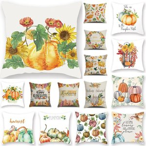 Wholesale Halloween Pillow Case Throw Pillows Cushion Cover For Thanksgiving Pumpkin Print Back Sofa Mat Home Decoration WX9