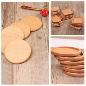 Wholesale mats pads Wood Coasters Wooden Wooden Heat Insulated Pad Tea Cup Pads Insulated Drinking Mats Teapot Table mat cup holder T2I5297