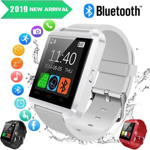 U8 smart watch touch bluetooth screen watch phone with SIM Card Slot Answer Call with Retail Box for Android smartphone on Sale