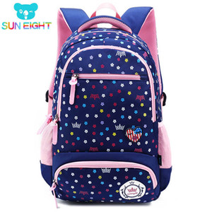Wholesale Sun Eight Big Capacity New Daisy Printing Girl Bag Kid Backpack Zipper Backpacks School Bags For Teenagers Girls Q190530