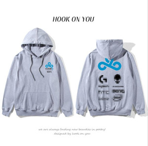 Wholesale Electronic Sports Zipperless Jacket Cloud Club Hoodies Cap and sleeve Spring and Autumn Fleece Hoodies