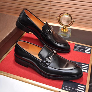 Wholesale Top Quality brand Formal Dress Shoes Luxury For Gentle Men The wedding Genuine Leather Shoes Pointed Toe designer Men s Business Oxfords b